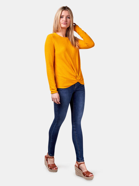 Hazel Textured Top, Yellow, hi-res