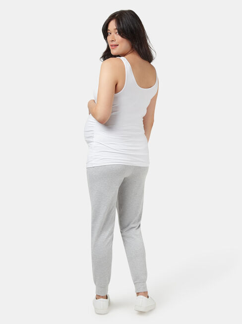 Louisa Drop Crotch Jersey Pant, Grey, hi-res