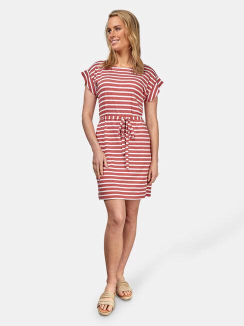 Ellie Jersey Dress, Stripe, hi-res