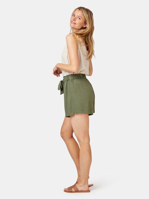 Helena Soft Short, Green, hi-res