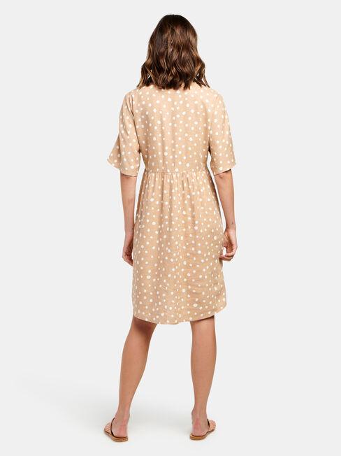 Bec Linen Blend Dress, Print, hi-res