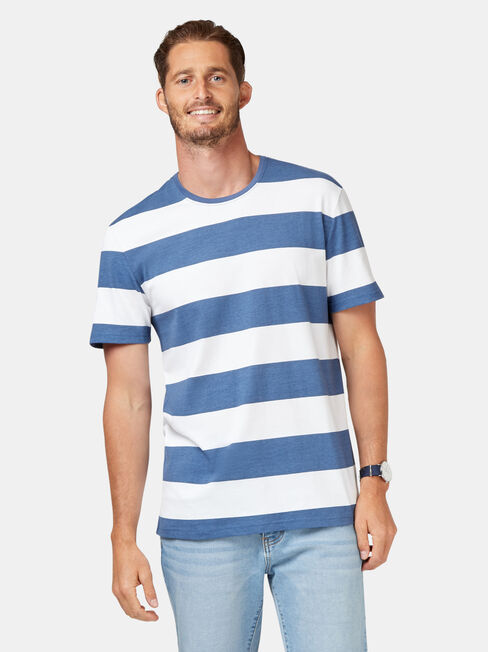 Mars Short Sleeve Stripe Crew Tee