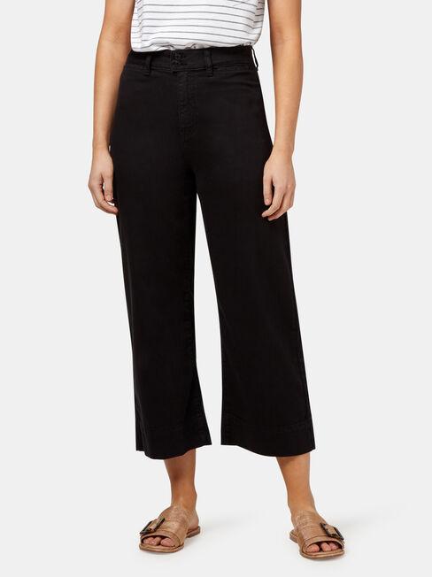 Cara Double Button Wide Leg Jean
