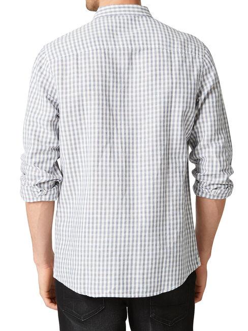 LS Brookfield Check Shirt, Blue, hi-res