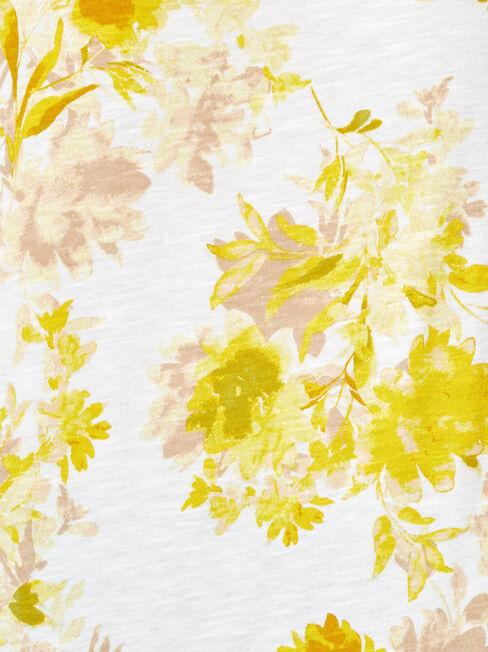 Zara Floral Printed Tee, Floral, hi-res