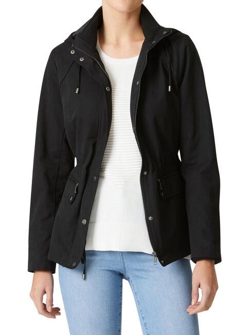 Alicia Water Resistant Jacket, Black, hi-res
