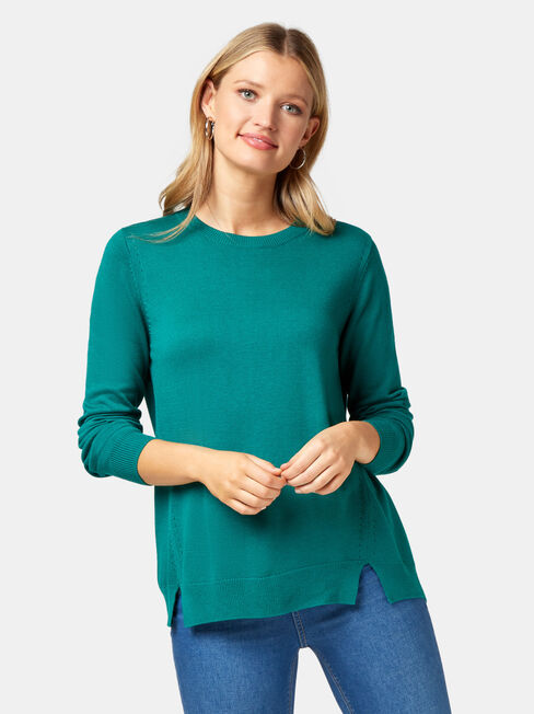 Aspen Essential Curve Hem Pullover