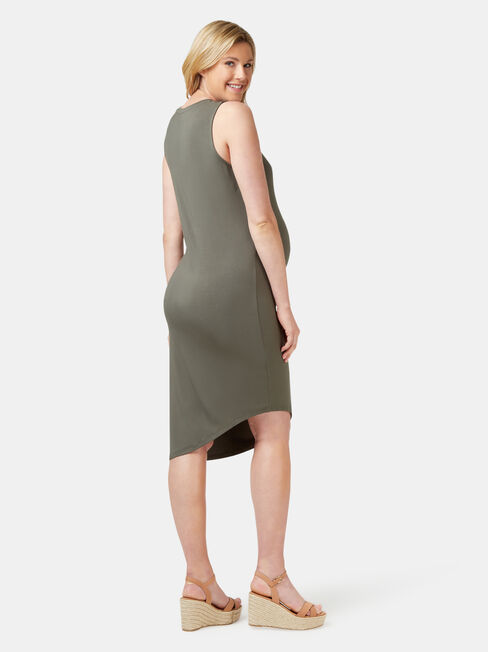 Clara Maternity Dress, Green, hi-res