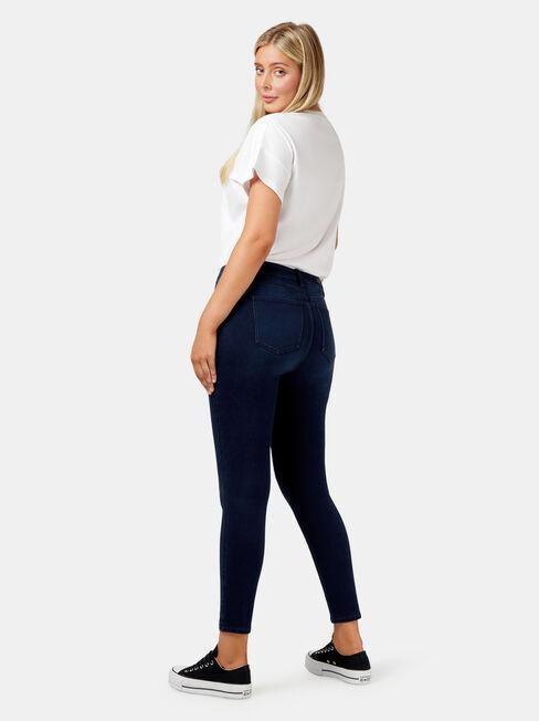 Freeform 360 Contour Curve Embracer Skinny 7/8 Jeans, Dark Indigo, hi-res