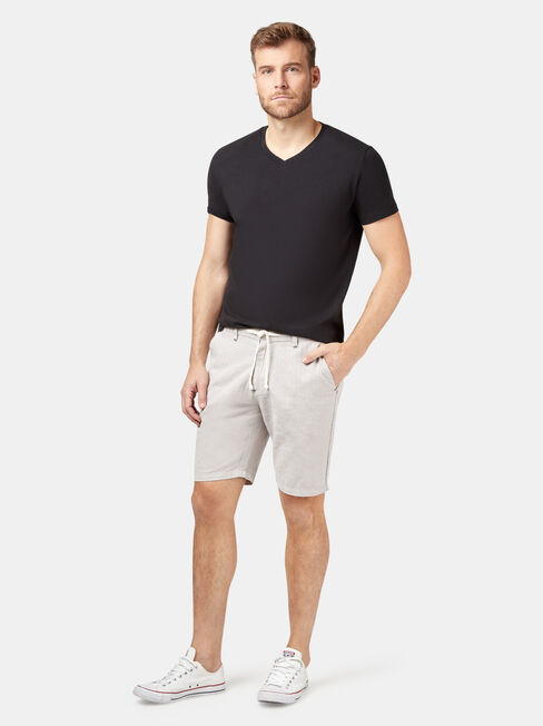 Tommy Tie Front Short, Grey, hi-res