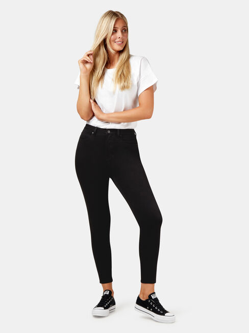 Freeform 360 Contour CE H/W Skinny 7/8 Jeans, Black, hi-res