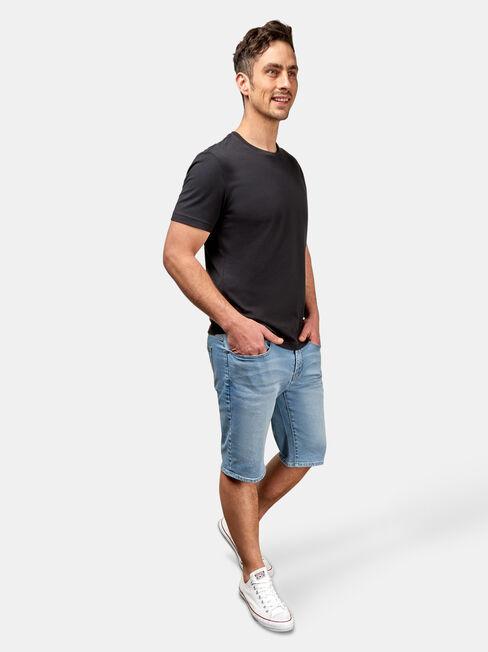 Connor Knit Denim Short, Blue, hi-res
