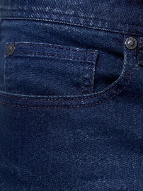 Denim Flex Slim Tapered Jeans Dark Indigo, Dark Indigo, hi-res