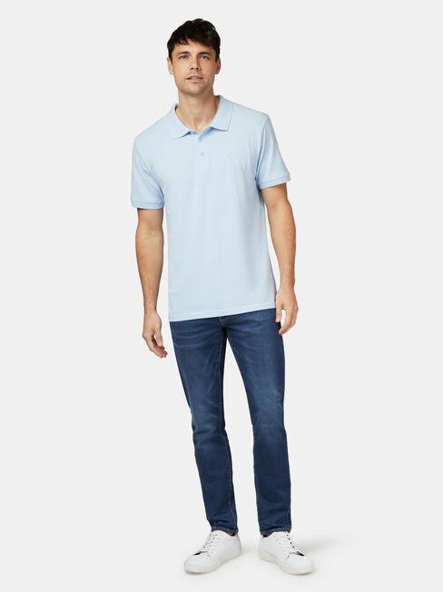 Charlie Short Sleeve Polo, Grey, hi-res