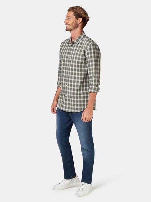 Turner Long Sleeve Check Shirt, Green, hi-res