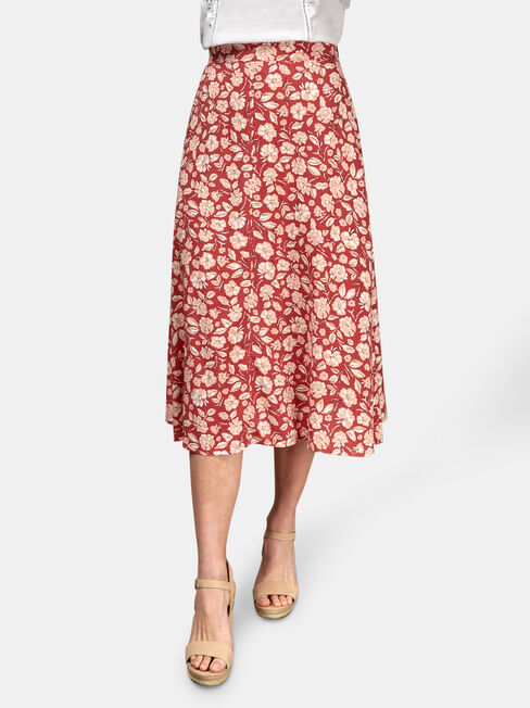 Alice Midi Skirt, Multi, hi-res