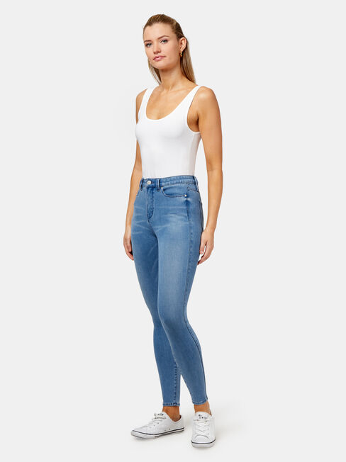 Freeform 360 Contour Skinny 7/8 Jeans, Mid Indigo, hi-res