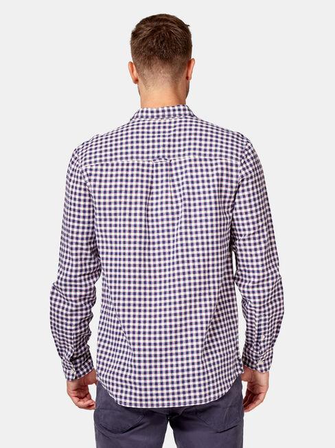 Barrett Long Sleeve Check Shirt, White, hi-res