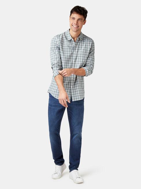 Marcus Long Sleeve Check Shirt, Stripe, hi-res