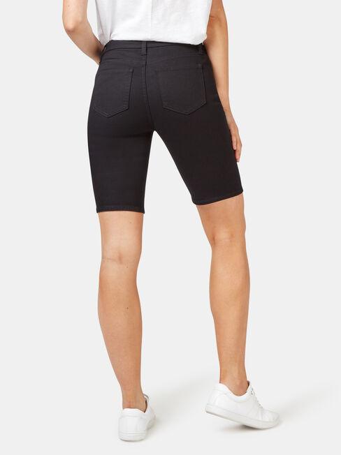 Talia Knee Length Short, Black, hi-res
