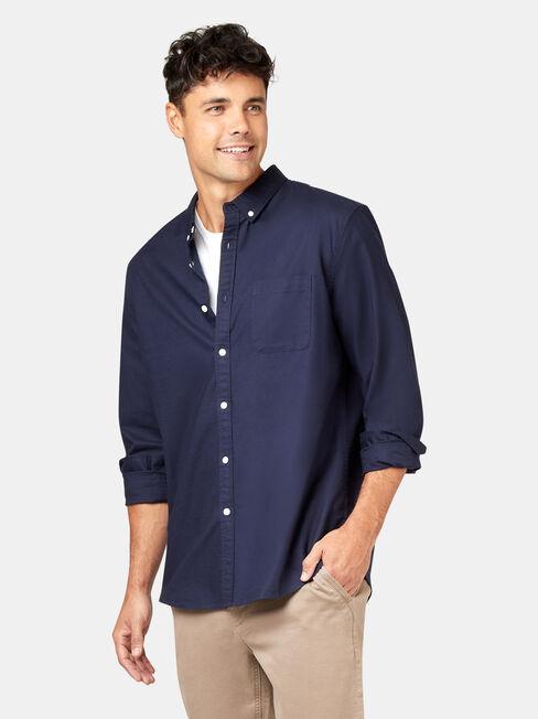 LS Heston Oxford Shirt, Blue, hi-res