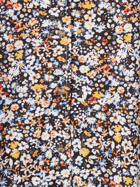 Marie Floral Jersey Top, Floral, hi-res