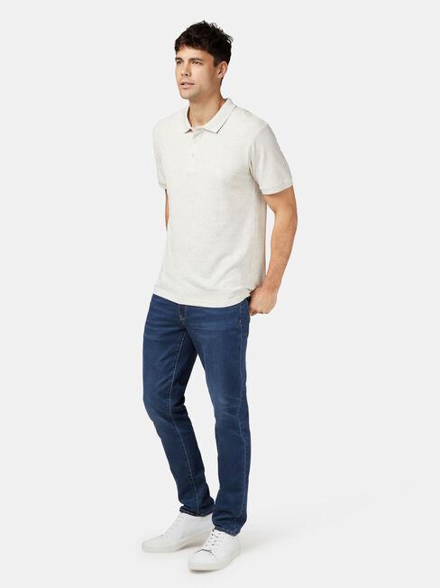 Charlie Short Sleeve Polo, White, hi-res