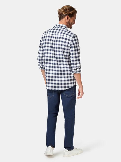 Holt Oxford Check Shirt, Blue, hi-res