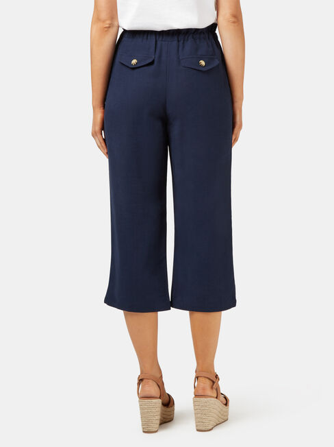 Lyla 3/4 Paperbag Pant, Blue, hi-res