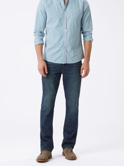 Slim Bootcut Jeans Indigo Ink, Mid Indigo, hi-res
