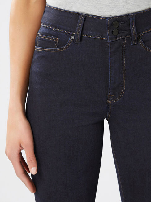 Tummy Trimmer Slim Straight Jeans  Absolute Indigo, Dark Indigo, hi-res