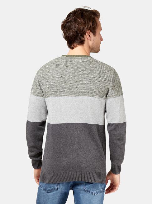 Finnegan Block Stripe Knit, Green, hi-res