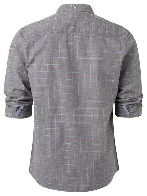 LS Glenville Check Shirt, Grey, hi-res