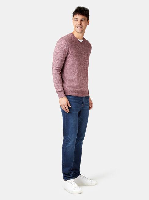 Blake V-Neck Knit, Red, hi-res