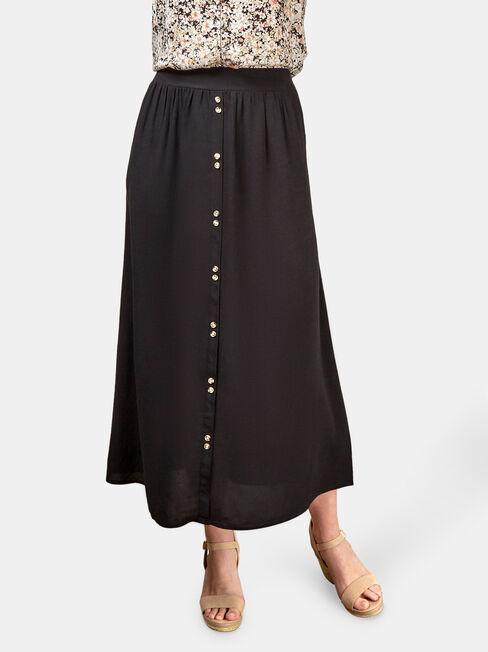 Gabriella Soft Skirt, Black, hi-res