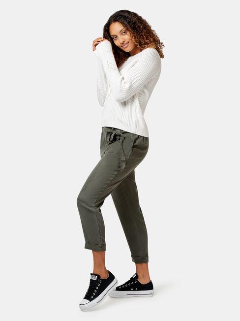 Felicity Stitch Pullover, White, hi-res