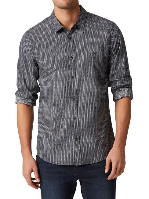 LS Corey Print Shirt, Grey, hi-res