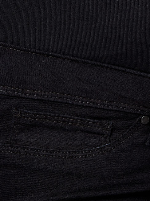 Maternity Skinny Jeans Absolute Black, DeepWash, hi-res