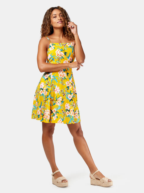 Emmy Printed Sundress, Yellow, hi-res