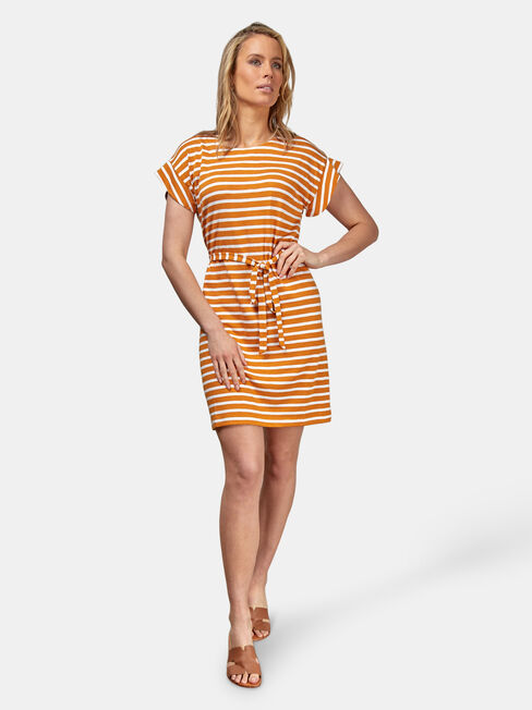 Ellie Jersey Dress, Yellow, hi-res