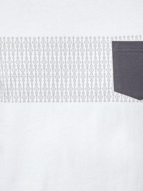 Hunter Print Crew Tee, White, hi-res
