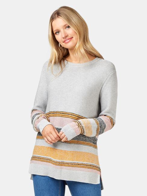 Sienna Stripe Hem Pullover