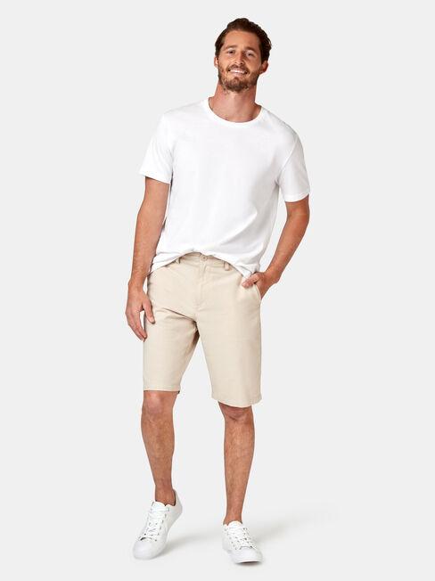 Luke Textured Chino Short, White, hi-res