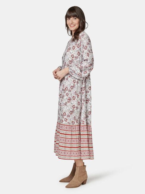 Tina Tiered Border Dress, Multi, hi-res