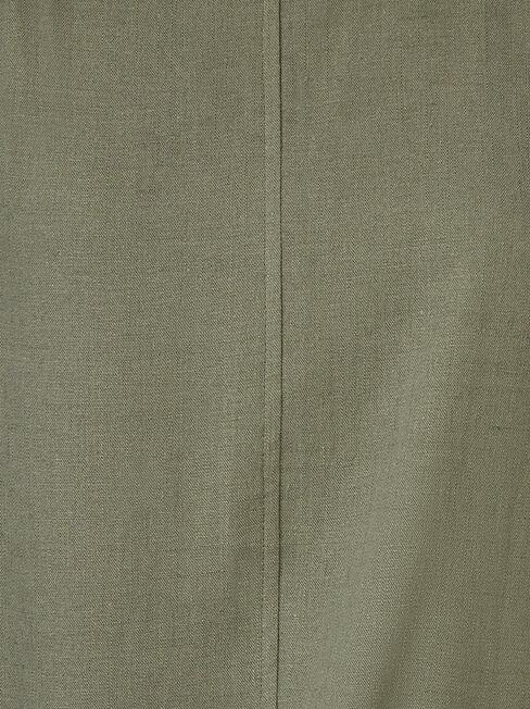 Luna Linen Blend Top, Green, hi-res