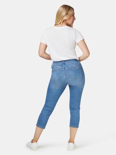 Kara Curve Embracer Skinny Capri Jeans Light Vintage, Light Indigo, hi-res