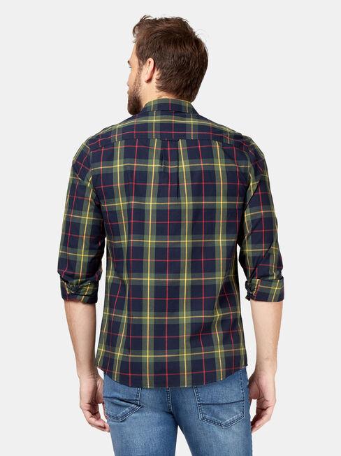 Nash Long Sleeve Check Shirt, Blue, hi-res