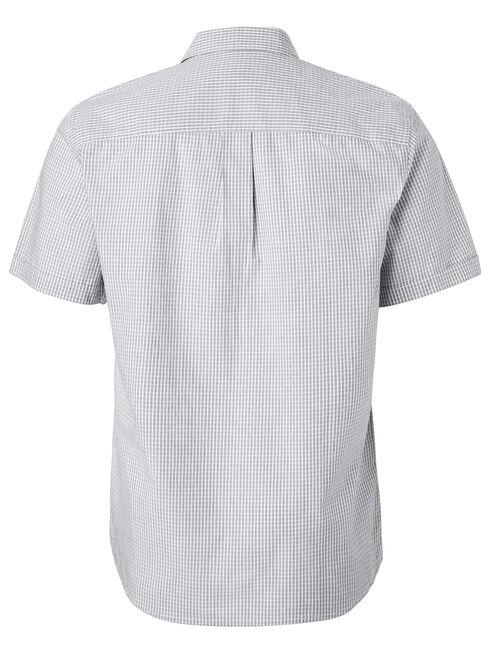 Alban Short Sleeve Check Shirt, Grey, hi-res