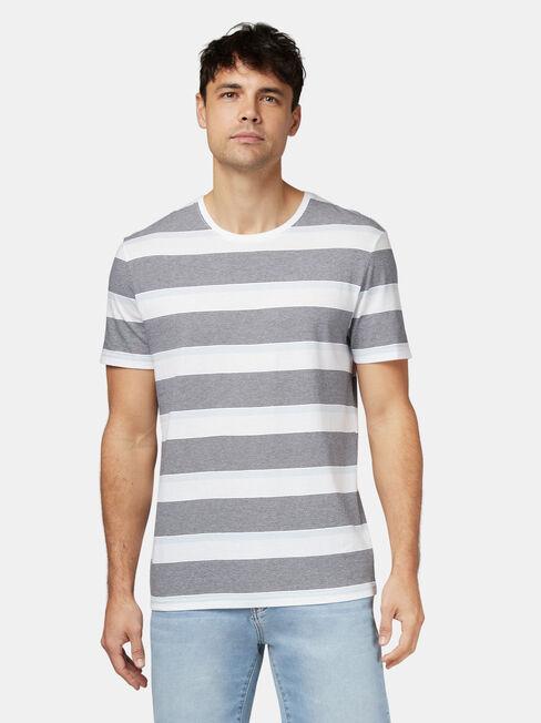 Patrick Short Sleeve Stripe Crew Tee