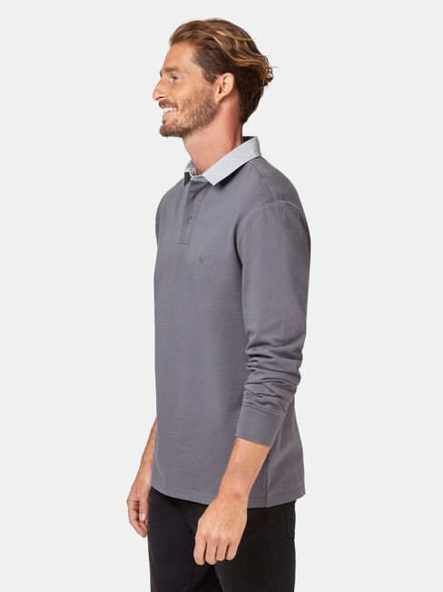 LS Hamish Rugby Polo, Grey, hi-res